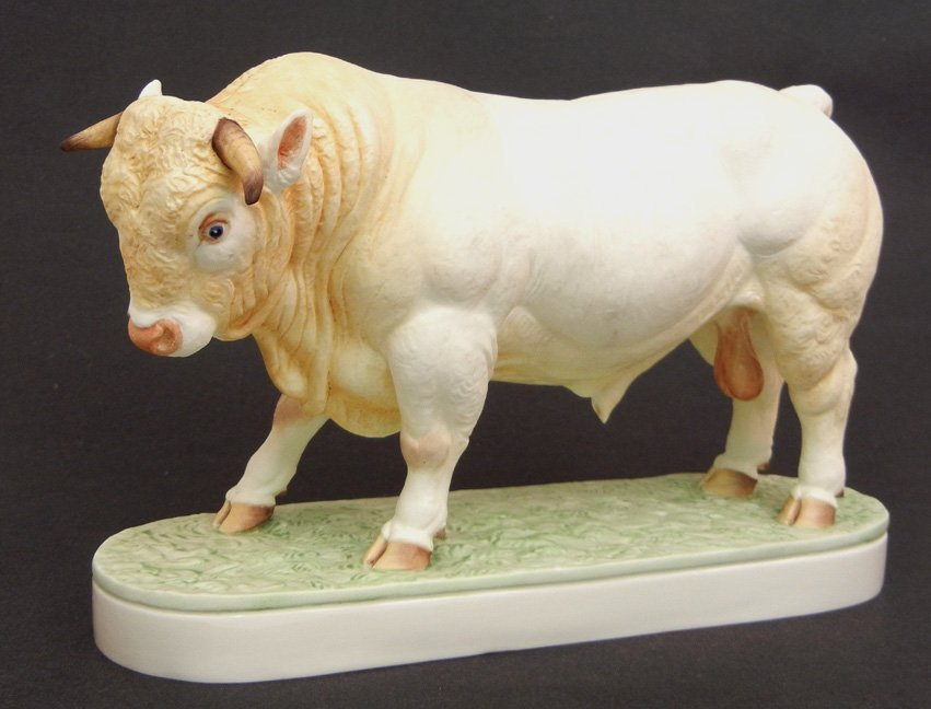 Royal Worcester bone china Charolais Bull, modelled by