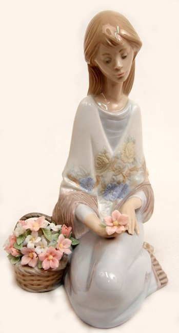 Lladro Flower Song No. 7607, Marked On Bottom From the