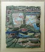 A Annelies Van Dommelen collage with hand made paper