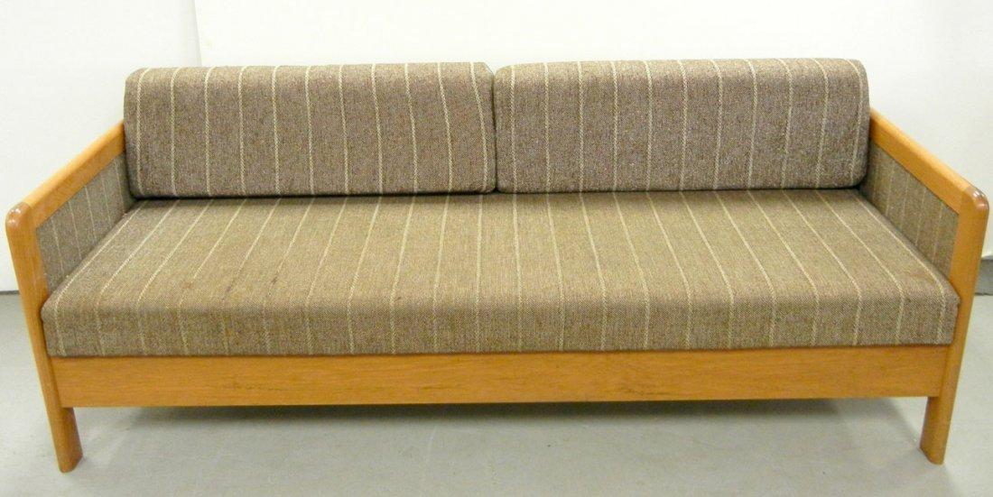 Hestbaek Danish Modern Sleeper Sofa, Teak And Upholster