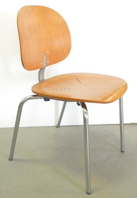 Twenty-three Piretti Xylon Modern wood and chrome chair - 4