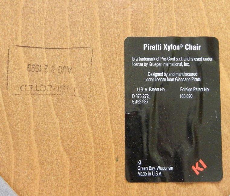 Twenty-three Piretti Xylon Modern wood and chrome chair - 6