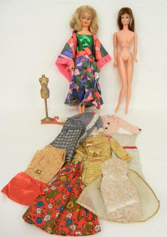Two fashion Barbie dolls, brunette Peggy Ann Doll