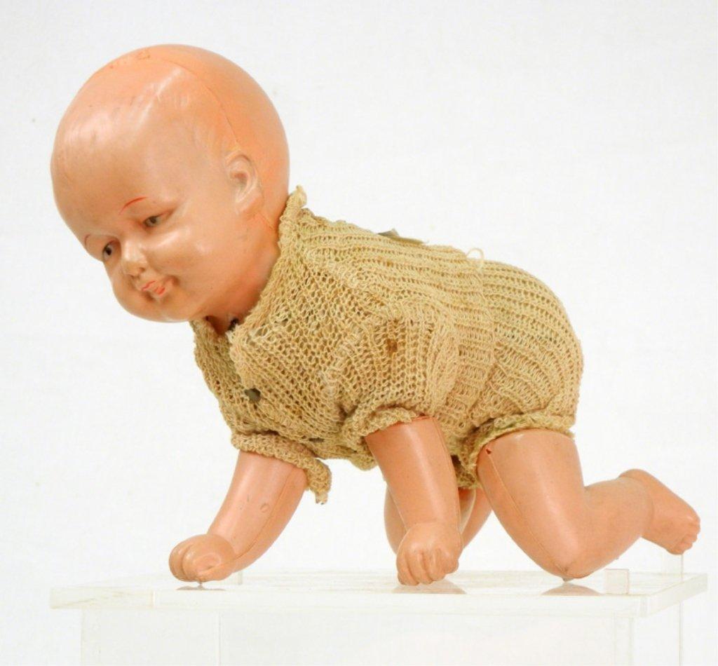 "Japanese windup crawling baby, marked ""Made in Japan"""