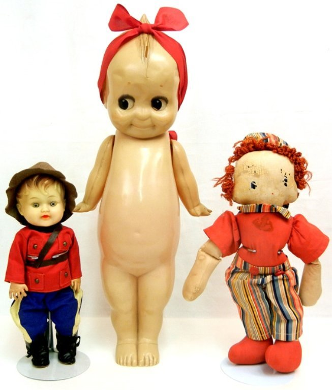 Large 1950's celluloid Kewpie doll, and four Kewpie - 2