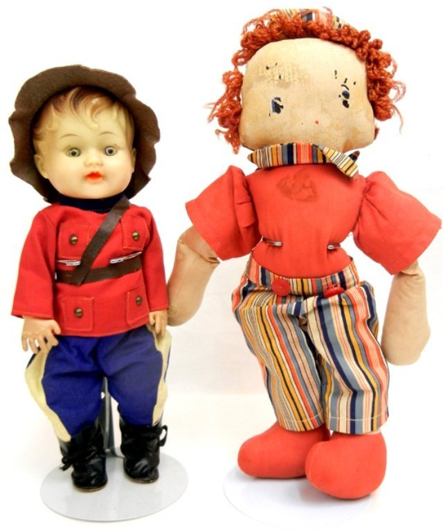 Large 1950's celluloid Kewpie doll, and four Kewpie - 3