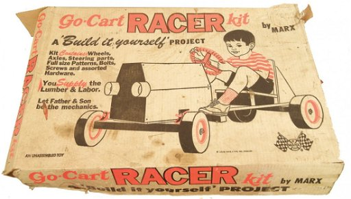 Marx Go Kart Racer Kit in original box,