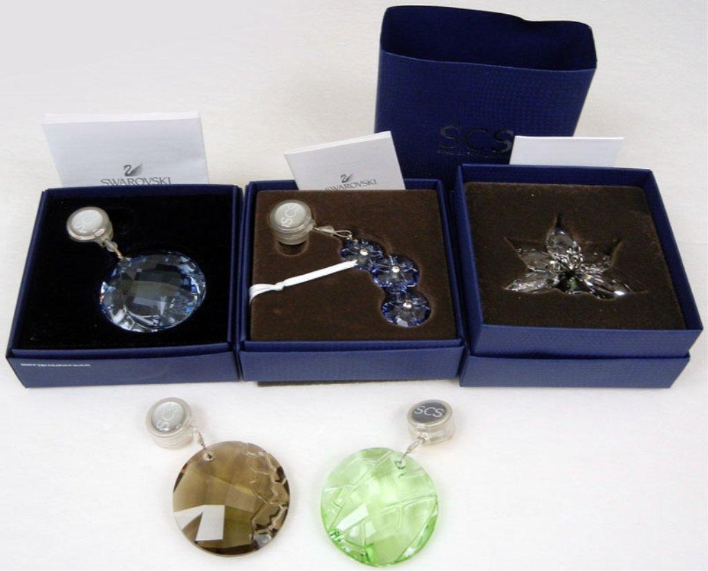 Swarovski crystals, including three in original boxes,