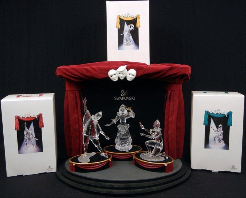 "Swarovski ""Masquerade"" figurines and stage set, includi"