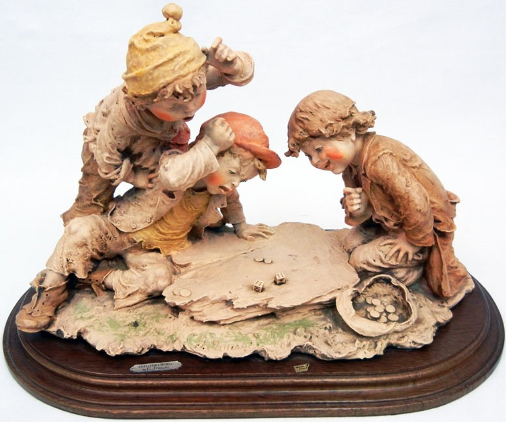 Giuseppe Armani figurine, Boys playing dice, Gulliver's