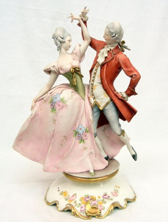 """Capodimonte Guiseppe Cappe """"Minnetto"""" N.58/3 porcelain"""