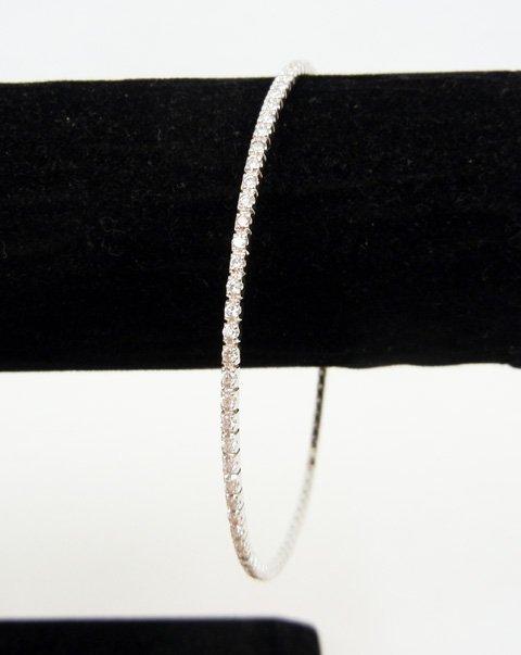 Gold and diamond bangle bracelet, 18k white gold, entir