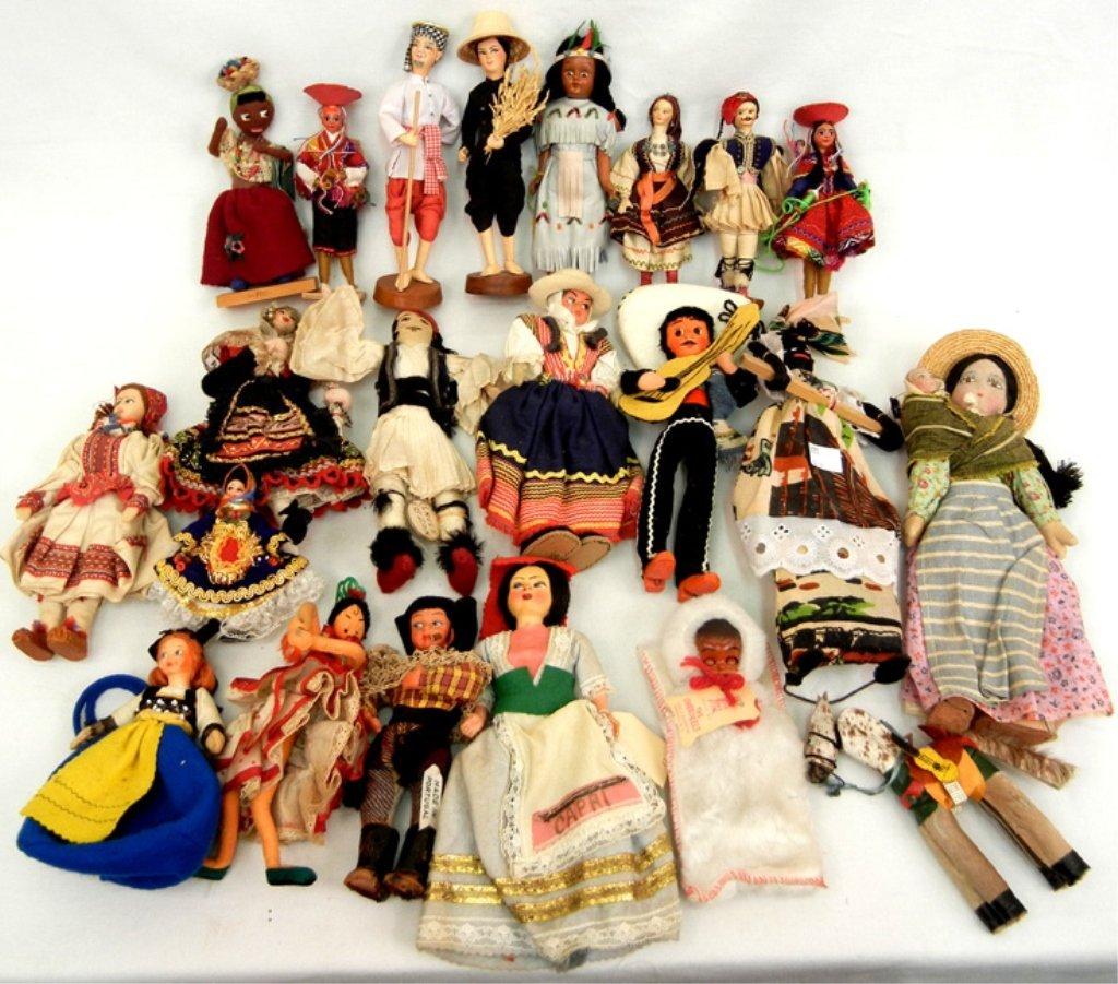 Grouping of Ethnic dolls