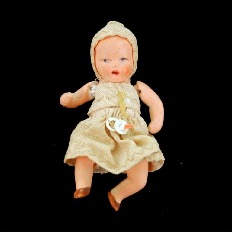 Miniature German all bisque doll