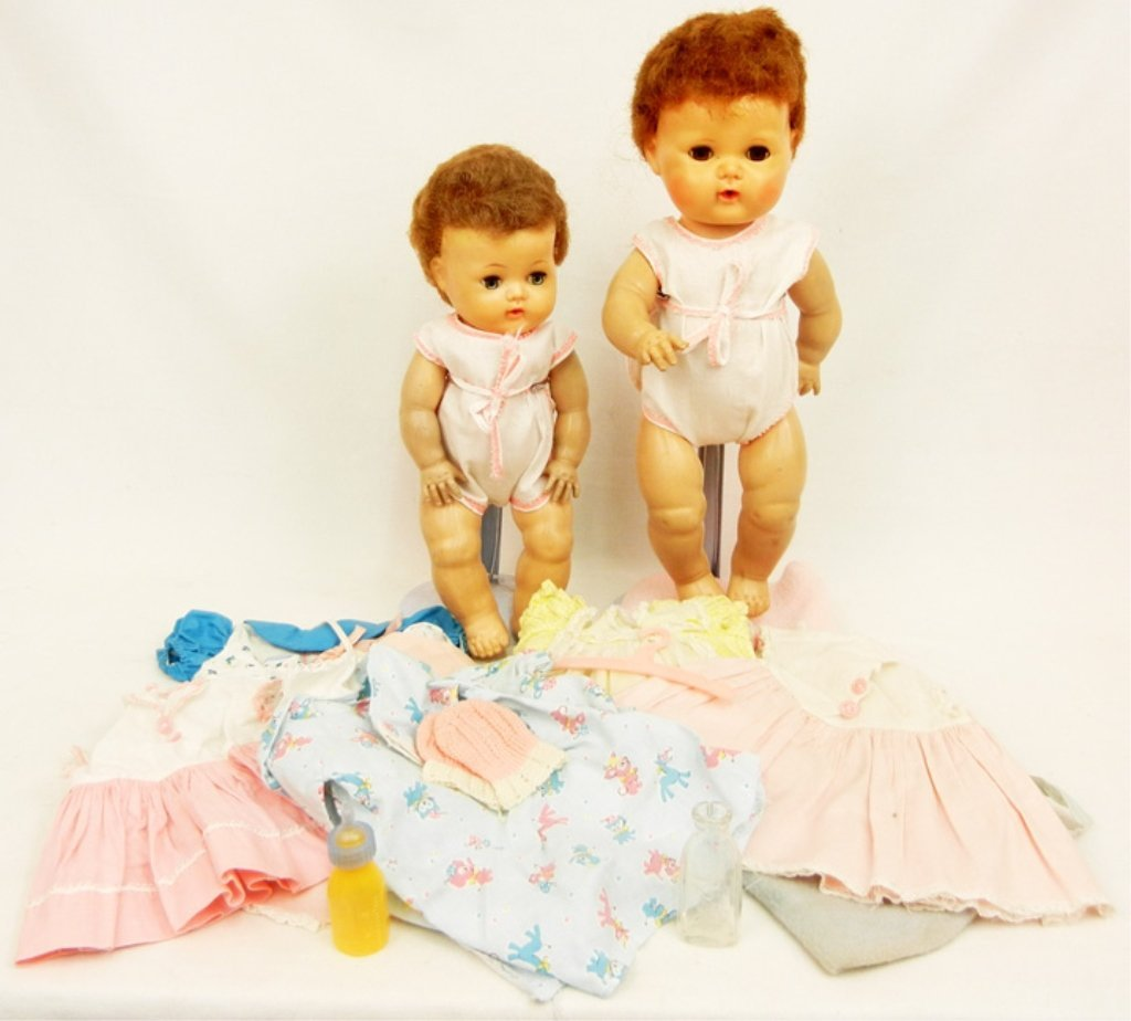 Two American Character Tiny Tears dolls