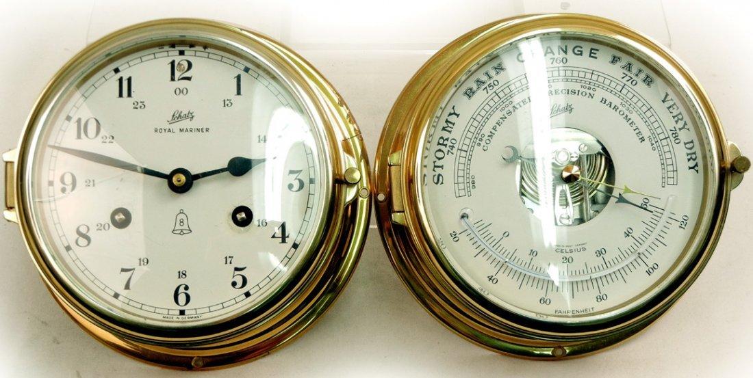 Schatz Ship Clock And Barometer