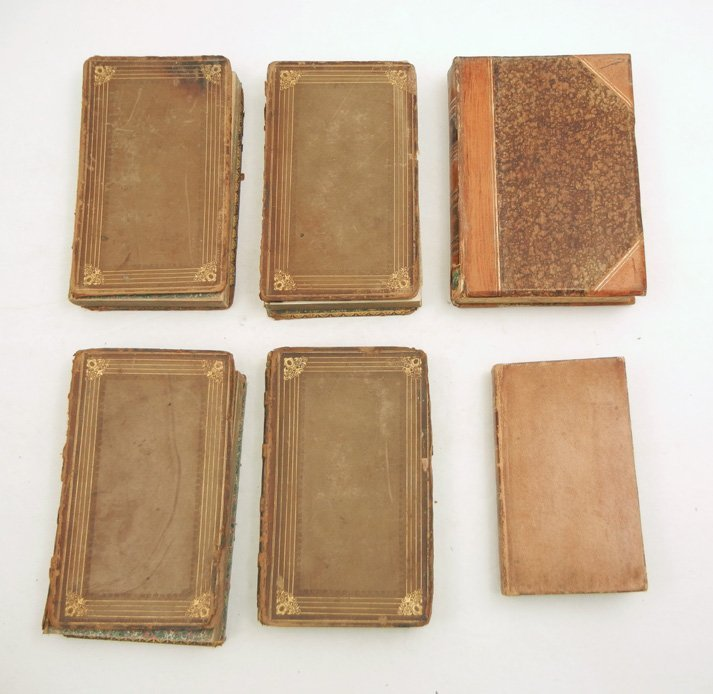 Grouping of 18th & 19th C. half and full leather bound