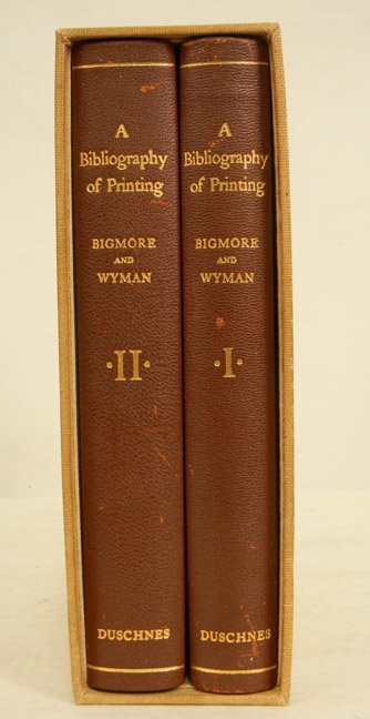 Two vol. set  A Bibliography of Printing