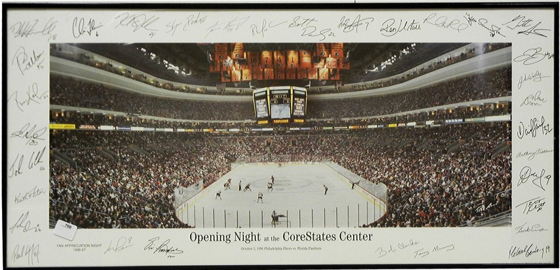 """Framed """"Opening Night at the Core States Center"""""""