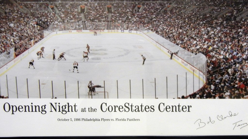 """Framed """"Opening Night at the Core States Center"""" - 3"""