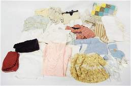 Grouping of antique and vintage doll clothing