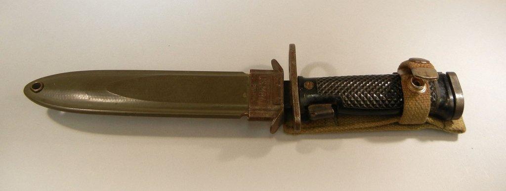 U.S. military M6 bayonet with scabbard