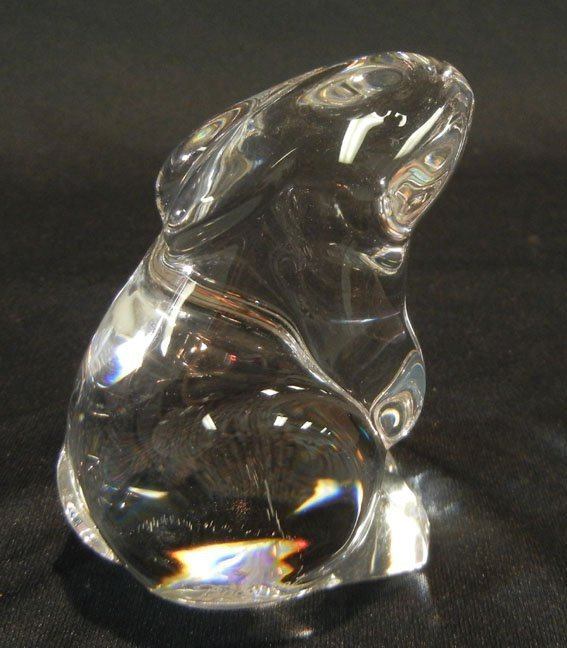 Baccarat crystal rabbit and crystal cat decanter - 4