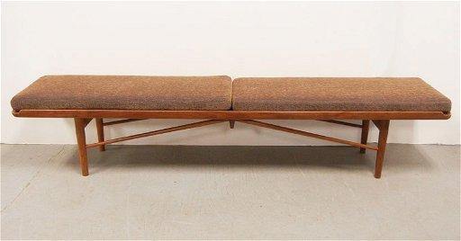Surprising Finn Juhl Baker Mid C Modern Walnut Bench Pabps2019 Chair Design Images Pabps2019Com