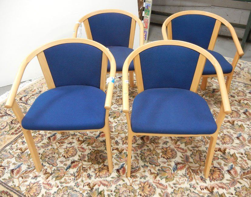 Set of four Magnus Olesen Mid- Century Danish armchairs