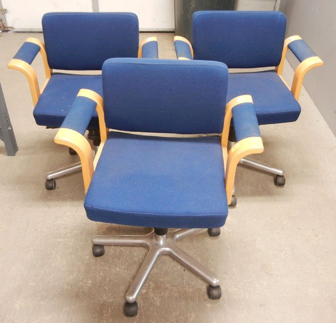 Set of three Magnus Olesen Mid-Century Danish swivel