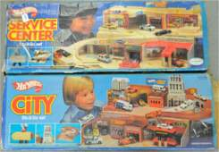 Two Hot Wheels Sto & Go sets in original boxes