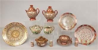 Japanese Kutani porcelain grouping