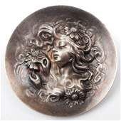Unger Brothers sterling silver brooch