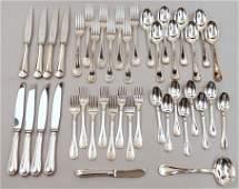 Christofle silver plated flatware set