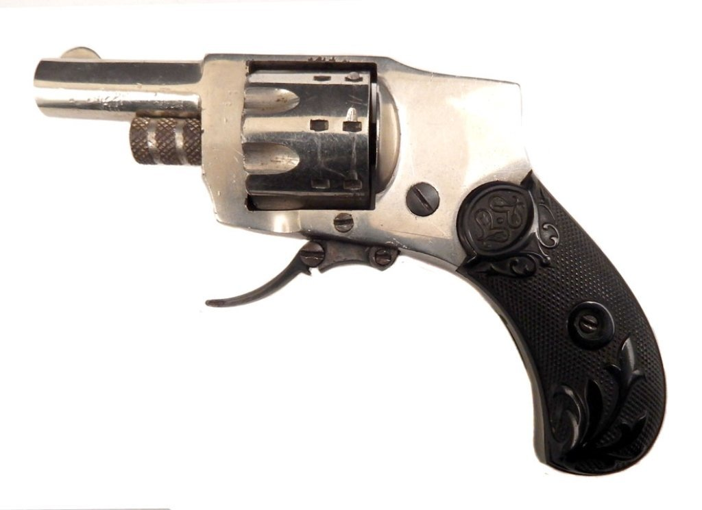 Baby hammerless .22 short caliber revolver