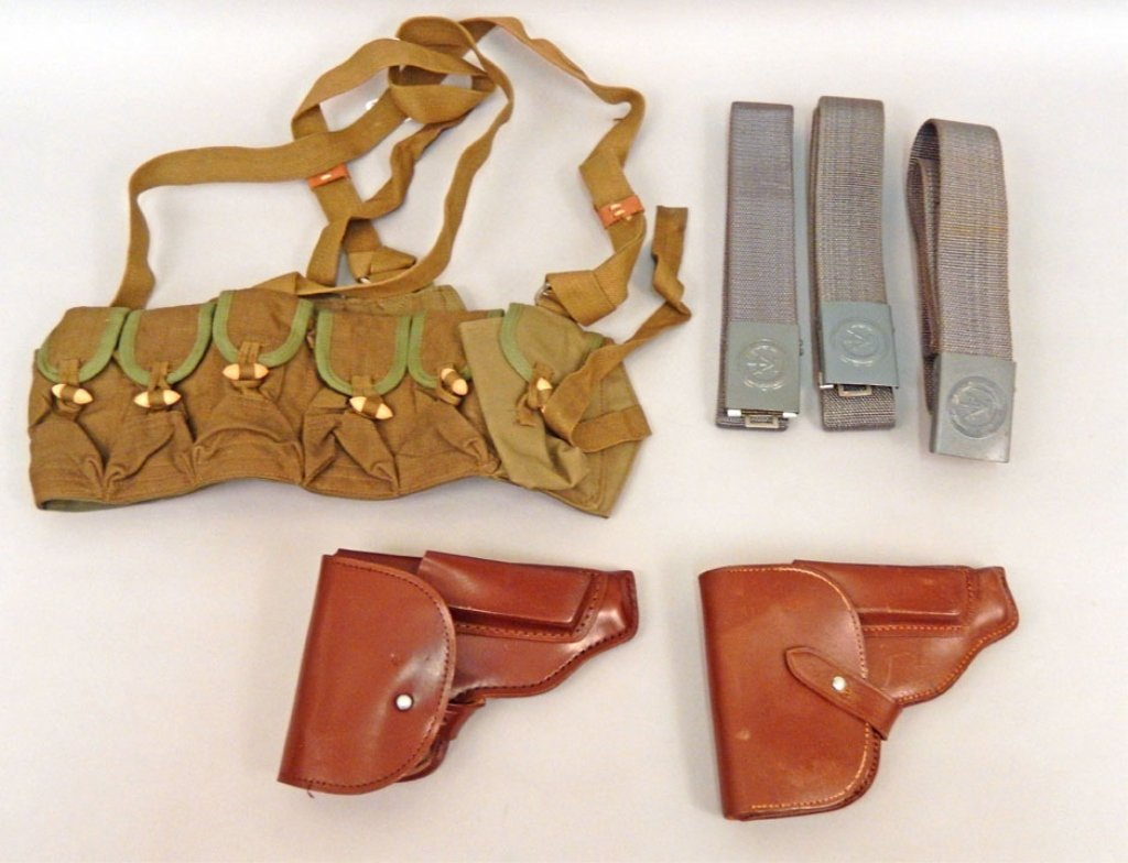 East German holsters, belts, and a Chinese SKS