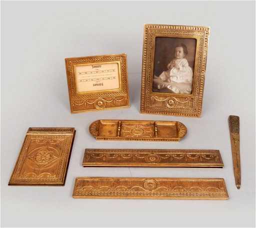 - Antique Tiffany Studios Desk Set