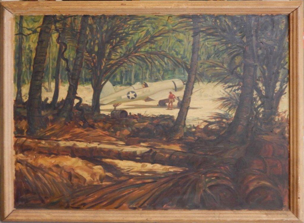 Carl Shreve oil on canvas