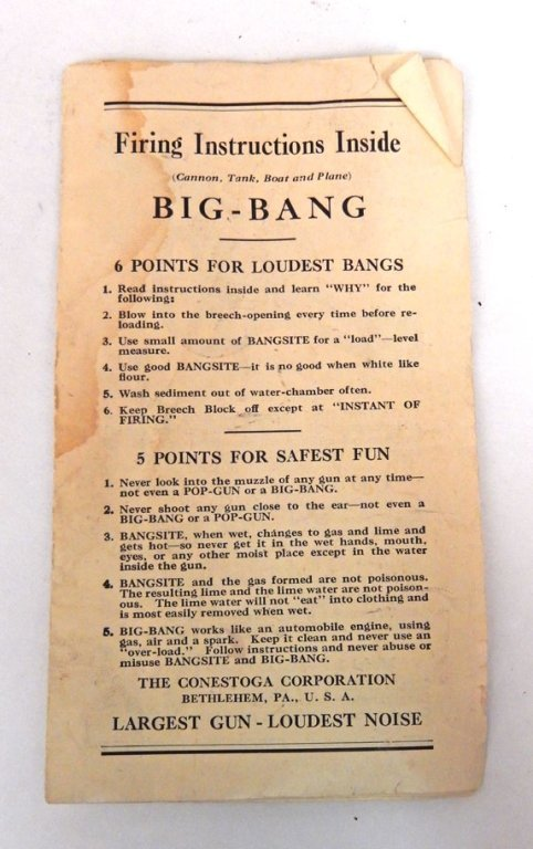 Big Bang Cannon 6F with firing instructions - 7