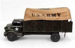 Marx Lumar US Army pressed steel truck canvas top