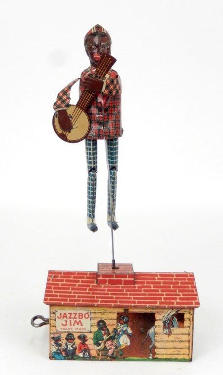 Unique Art Jazzbo Jim tin litho windup toy