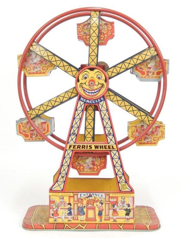 J. Chein Ferris Wheel tin litho windup toy