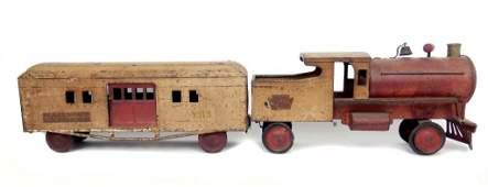 Keystone R.R. Railway Express locomotive and baggage