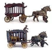 Hubley Royal Circus Cage Wagon and Overland Circus