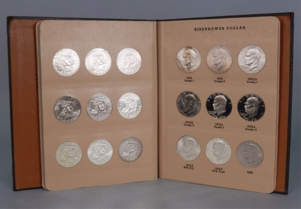 Book of thirty-two Eisenhower dollars 1971-1978 S