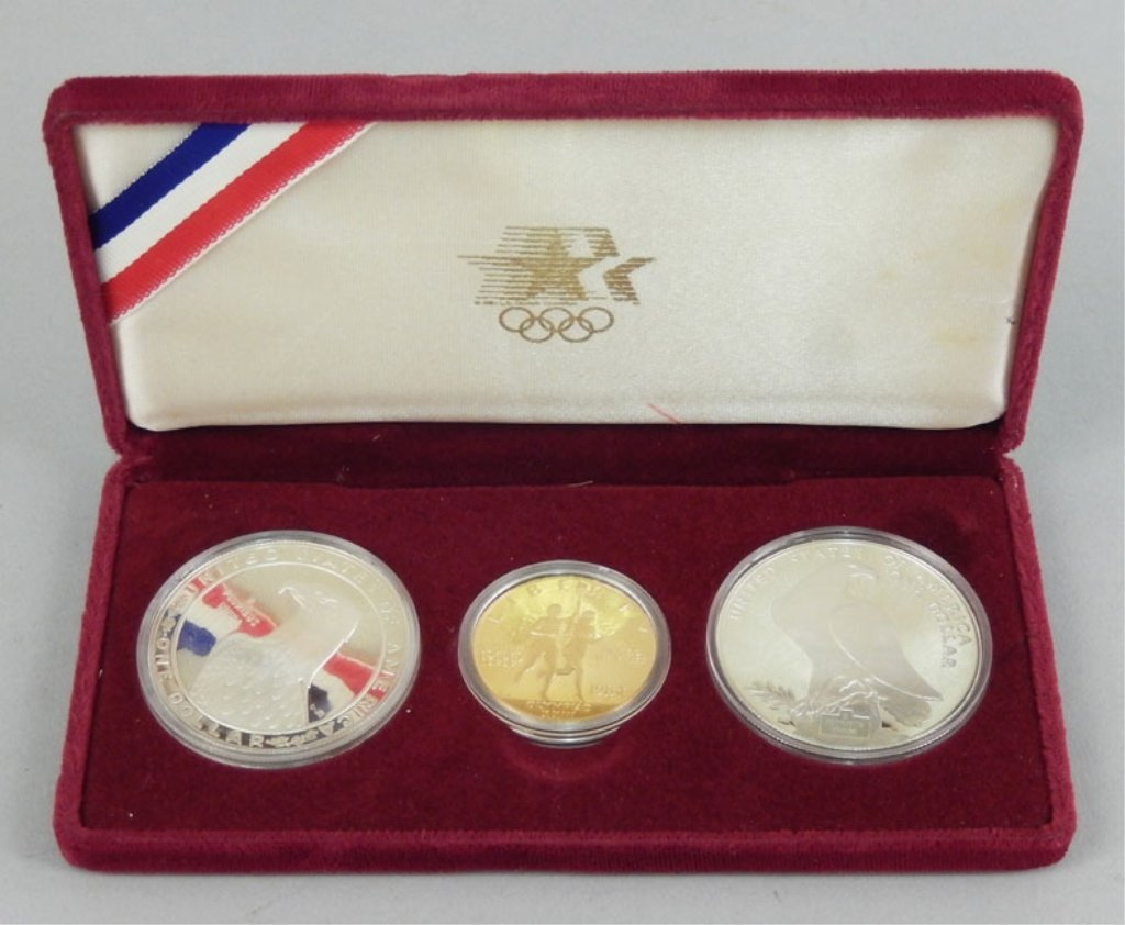 1984 Gold proof U.S. Olympic coin set