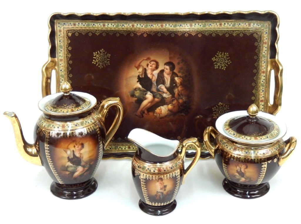 Czechoslovakia porcelain tea set