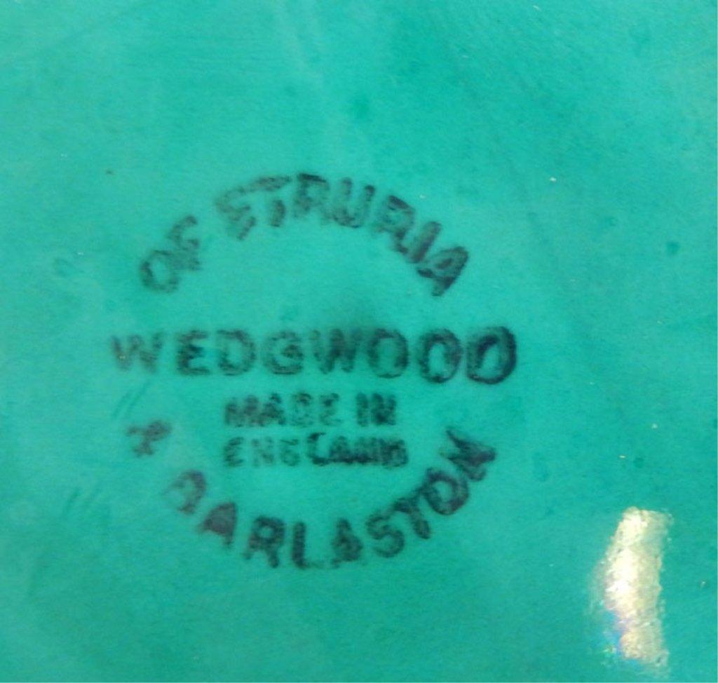 Twelve Wedgwood Majolica green leaf plates - 4