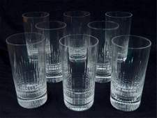 Eight Baccarat Colmar highball glasses