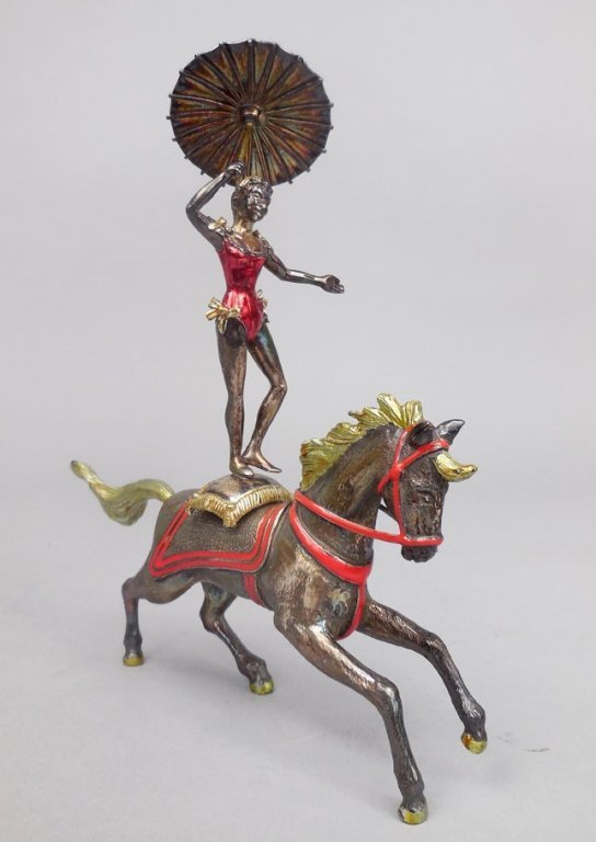 Tiffany & Co. sterling enamel circus Performer